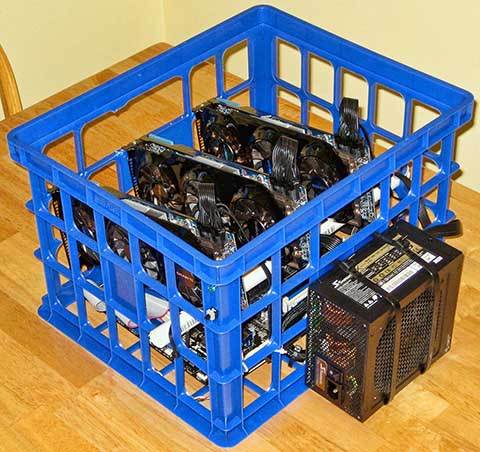 CryptoBadger's custom mining rigs