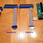 The different PCIe riser types.